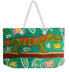 Lurking Iguana Weekender Tote Bag by Brandon Drucker