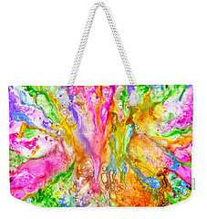 Luscious Colorful Modern Abstract With Pastel Shades Weekender Tote Bag