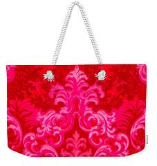Luscious Neo Baroque Hot Pink Bubblegum Damask Weekender Tote Bag