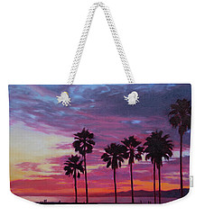 Weekender Tote Bag featuring the painting Lush by Andrew Danielsen