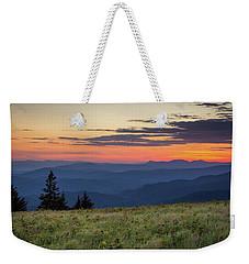 Lush Blue Ridge Mountain Sun Rise Weekender Tote Bag