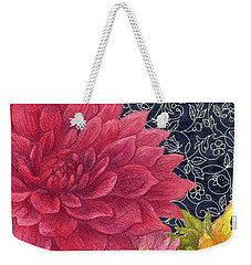 Weekender Tote Bag featuring the painting Lush Fall Botanical by Judith Cheng