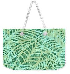 Lush Meadow Fossil Leaves Weekender Tote Bag