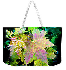 Weekender Tote Bag featuring the mixed media Lush Spring Foliage by Will Borden