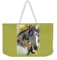 Weekender Tote Bag featuring the painting Lusitano by Barbara Keith