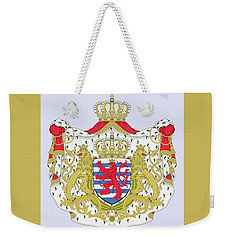 Weekender Tote Bag featuring the drawing Luxembourg Coat Of Arms by Movie Poster Prints