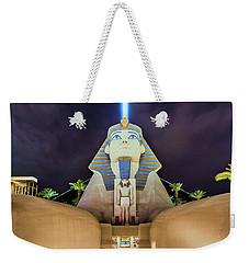 Luxor Casino Egyptian Sphinx Las Vegas Night Weekender Tote Bag