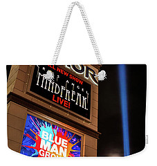 Luxor Pyramid Casino Sign At Night Weekender Tote Bag by Aloha Art