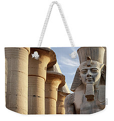 Weekender Tote Bag featuring the photograph Luxor by Silvia Bruno