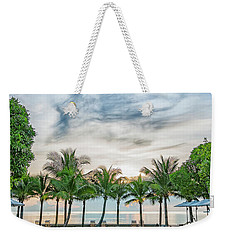 Weekender Tote Bag featuring the photograph Luxury Pool In Paradise by Antony McAulay