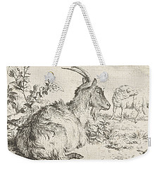 Lying Goat Weekender Tote Bag by Adriaen van de Velde