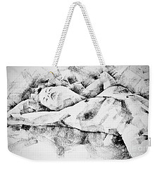 Lying Woman Figure Drawing Weekender Tote Bag