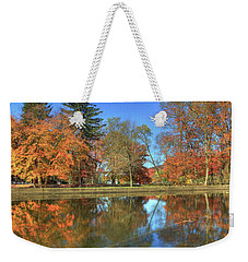 Weekender Tote Bag featuring the photograph Lykens Glen Reflections by Lori Deiter