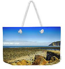Lynmouth Beach In Devon, Uk Weekender Tote Bag