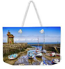 Lynmouth Harbor In Devon, Uk Weekender Tote Bag