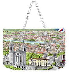 Lyon France Weekender Tote Bag by Albert Puskaric