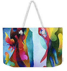 Lyrical Grouping Weekender Tote Bag by Sally Trace
