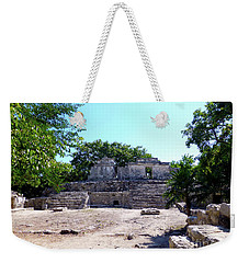 Weekender Tote Bag featuring the photograph M Ruin by Francesca Mackenney