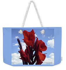 M Shades Of Red Flowers Collection No. R16 Weekender Tote Bag