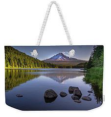 M T Hood Sunrise At Lake Trillium Weekender Tote Bag