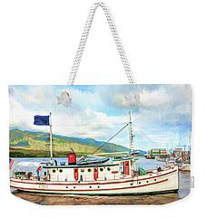 M/v Teal Weekender Tote Bag