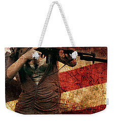 M1 Carbine On American Flag Weekender Tote Bag