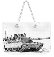 M1a1 A Company Commander Tank Weekender Tote Bag