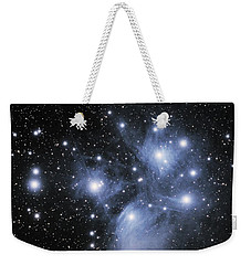 Weekender Tote Bag featuring the photograph M45--the Pleiades by Alan Vance Ley