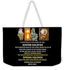Ma Ra Solstice Weekender Tote Bag