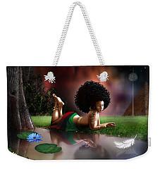 Weekender Tote Bag featuring the digital art Maat  by Dedric Artlove W