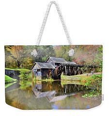 Mabry Grist Mill Weekender Tote Bag by Sharon Batdorf