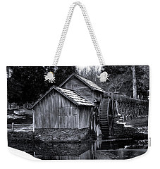 Mabry Mill Bw Light Snow Weekender Tote Bag