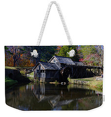 Weekender Tote Bag featuring the photograph Mabrys Mill On The Blue Ridge by B Wayne Mullins