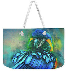 Weekender Tote Bag featuring the photograph Macaw Magic by Brian Tarr