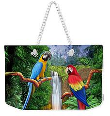 Macaw Tropical Parrots Weekender Tote Bag