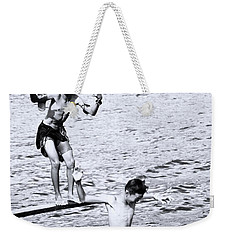 Weekender Tote Bag featuring the photograph Macho Boys by Jez C Self