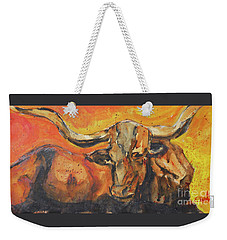 Macho Longhorn Weekender Tote Bag by Ron Stephens