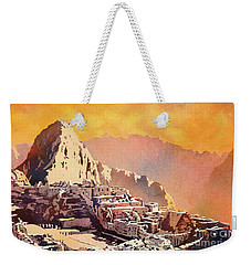 Weekender Tote Bag featuring the painting Machu Picchu Sunset by Ryan Fox