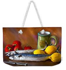 Mackerels, Lemons And Tomatoes Weekender Tote Bag