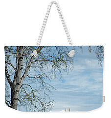 Mackinac Bridge Birch Weekender Tote Bag