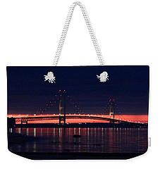 Mackinac Bridge On A June Evening Weekender Tote Bag