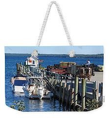 Mackinac Island Coal Dock Weekender Tote Bag