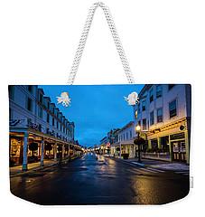 Mackinac Island Town At Dawn Weekender Tote Bag