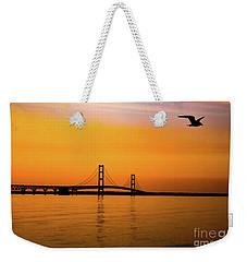 Mackinaw Sunset  Weekender Tote Bag