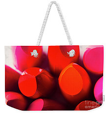 Weekender Tote Bag featuring the photograph Macro Cosmetic Art by Jorgo Photography - Wall Art Gallery