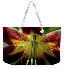 Weekender Tote Bag featuring the photograph Macro Flower by Jay Stockhaus