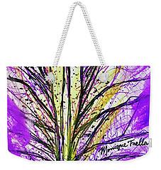 Macro Iris Petal Weekender Tote Bag