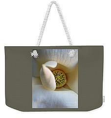 Macro Magnolia Weekender Tote Bag