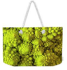 Macro Of Head Of Broccoli Romanesco Weekender Tote Bag