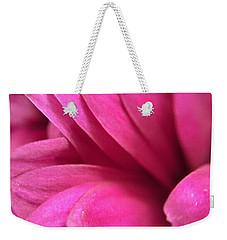 Macro Pink Chrysanthemum Weekender Tote Bag